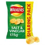 Walkers Salt & Vinegar Sharing Bag Crisps 175g